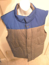 Firetrap Politix Men's Winter Quilted Vest XXL Gray/Blue New