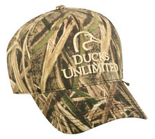 Ducks Unlimited Shadow Grass Blades NEW Mossy Oak Camo white logo Hunting Hat