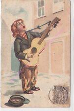 CPA HUMOUR Chanteur guitariste jeune enfant ca 1905