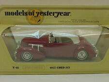 MATCHBOX LESNEY MODELS OF YESTERYEAR 1:35 SCALE Y-18 1937 CORD 812 NEW MIB