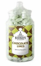 BONDS - CHOCOLATE LIMES - 1.7KG JAR, BOILED SWEETS, GIFT JAR, CHRISTMAS, XMAS