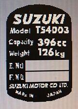 SUZUKI TS400 HEADSTOCK FRAME RESTORATION DECAL