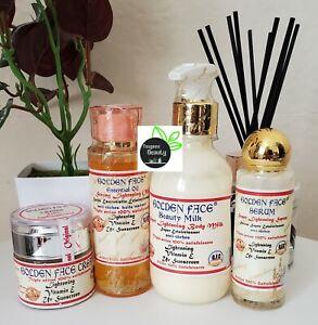 Golden Face Beauty Milk + Serum + Oil + Face Cream 4in1 Set 100% ORIGINAL