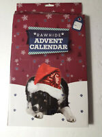 DOG ADVENT CALENDAR CHRISTMAS PET BONE RAWHIDE XMAS CALENDER 25 MUNCHY TREATS