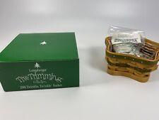 2001 Longaberger Twinkle Twinkle Basket - Green - Complete Set *Brand New*