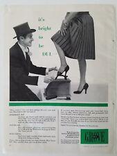 1953 Grove nylon company women's stockings Hosiery shoe shine man top hat ad