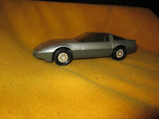 Vintage Silver Corvette Car Automobile Made In Hong Kong By Ertl Excellent Cond.