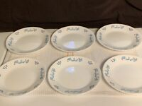 "Corelle Retired Subtle Blue 6-3/4"" Salad/ Dessert Plates - Set of 6"