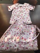 Girls Lehenga skirt choli sz 24 cotton Indian pink flowers cotton