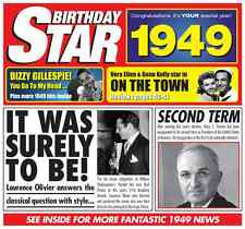 68th 1949 Birthday Gifts - 1949 Chart Hits Britpop CD and 1949 Greetings Card
