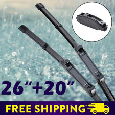 "26""+20"" Car Front Window Frameless Wiper Blades Fit Highlander Camry Ford Edge"