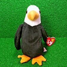NEW Ty Beanie Baby Baldy The Bald Eagle 1996 Retired PVC Plush Bird - Ships  FREE 095519e65ebd