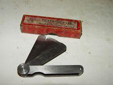 Vintage Machinist Toolmaker Starrett No 66 Thickness Gage Tool W/ Box # 23