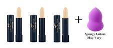 Max Factor Erace Concealer 4.2g, #07 Ivory (3 Pack) + Makeup Sponge