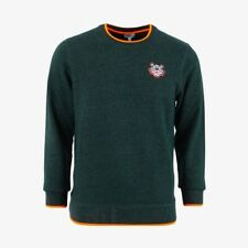 Kenzo Embroidered Tiger Sweatshirt with Orange Highlights - Green REDUCED