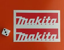 x 2 MAKITA STICKERS 100MM X 30MM TOOL BOXES,CARS,VANS.GARAGE.WORK