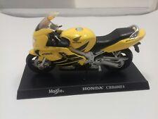 Modelo de motocicleta honda cbr 600f4, negra/amarilla de maisto en escala 1:18 (906)
