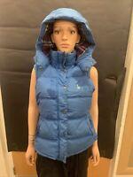 Jack Wills Blue Thick Puffer Jacket Gillet - UK Ladies Size 10
