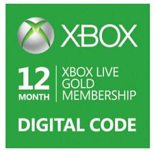 Xbox Live Gold 12 Month / 1 Year Membership Code Xbox One 360 INSTANT DELIVERY