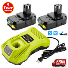 2x 2.5Ah 18V Lithium Battery & Charger Combo for Ryobi One+ P117 P102 P104 P108