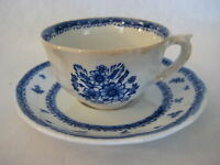 "Vintage Arabia Of Finland Finn Flower Blue Cup & Saucer, 3 1/4"" D X 2"" T-Cup"