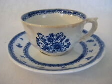 "Vintage Arabia Of Finland Finn Flower Blue Cup & Saucer, 3 1/4"" D X 2"" T-Cup"