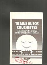 SNCF French Publicité Advertising  Année 1980  AD