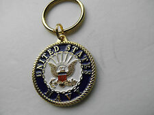 US NAVY Air Sea Land Key Ring Chain Keychain 1 1/2 inches