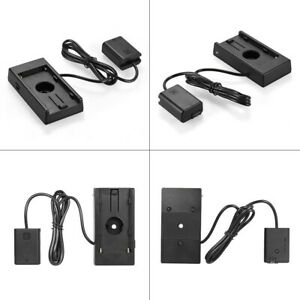 Battery Mount Plate Power Charger NP-F970 to NP-FW50 Fr Sony NEX7 A5100 A7S D009