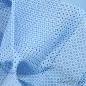 LNWOT Brioni Made in Italy Sky Blue 100% Silk Concentric Neat Pocket Square NR