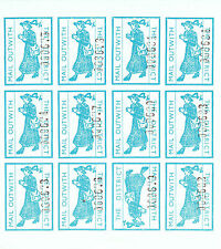 1971 STRIKE MAIL MAIL WITHOUT 4/- TURQUOISE IMP COMMEMORATIVES FULL SHEET OF 12