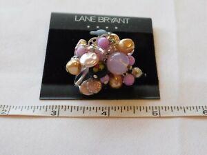 Lane Bryant Ladies Women's 1 Ring Silver Tone S120741 Onesz NEW NOS