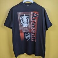 Vintage Arsenal Blue T Shirt 2003 FA Cup V Southampton Size XL New with Tags
