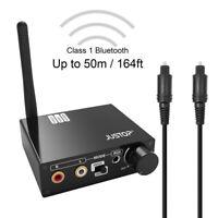 DAC Bluetooth Transmitter TosLINK To RCA Wireless Audio AptX Low Latency For TV