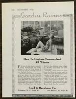 1936 Lord & Burnham Co Garden Rooms Ad How to Capture Summerland All Winter