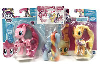 "3-My Little Pony Friendship is Magic Pinkie Pie 3"" - Applejack - Rainbow Hair"
