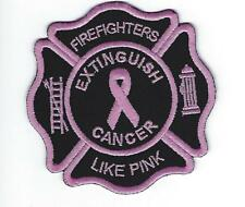 "Breast Cancer Awareness Firefighters Like Pink Extinguish Cancer Patch (3.5"")"