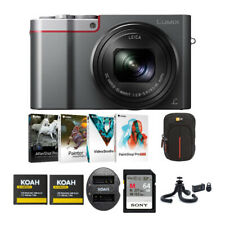 Panasonic LUMIX ZS100 20.1MP 4K Digital Camera (Silver) Holiday Bundle