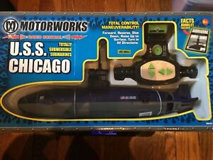NIB USS Chicago Submarine 6th Channel radio Control Submersible. Ready to Run