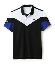 Lacoste Sport Polo Shirt-XXXL T8-Noir Blanc Bleu-Bnwt-DH7983-RRP £ 79