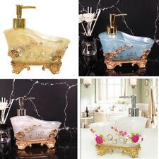 New Listing600Ml Bathroom Accessory Soap Lotion Dispenser Bottle w/ Soap Dish Holder Resin