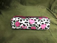 Hard Candy Pencil Case vs Make up Bag Pink Roses Hearts Black White New With Tag