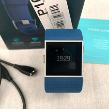 Fitbit Surge GPS Activity Tracker Smart Watch Band Blue Wrist Heart Rate Small