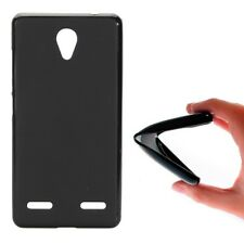 FUNDA DE TPU GEL SILICONA GOMA PARA MOVIL ZTE BLADE L7 COLOR NEGRO NEGRA LISA