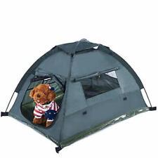 "Dog Cat Camping Tents 45.3"" L 34.6"" W 28.3"" H Pet Travel Bed Backyard Beach Ten"
