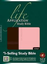 NLT Life Application Study Bible (Dark Brown / Pink Tutone Leather-like)