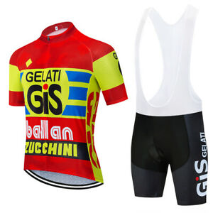 GIS Gelati Ballan Team Cycling Jersey bib shrots Cycling Short Sleeve Jersey