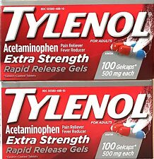 TYLENOL RAPID RELEASE GELCAPS 2 X 100 (200) EXTRA STRENGTH 500mg EXP 08/18+