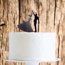 Dancing Couple Cake Topper x1 Baking Pick Decoration Wedding