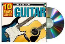 Learn to Play Guitar10 Easy Lessons Cd, 120 page booklet, poster New
